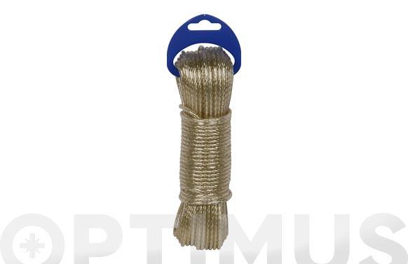 CABLE ACERO PLASTIFICADO 3,5MM20 MT ORO