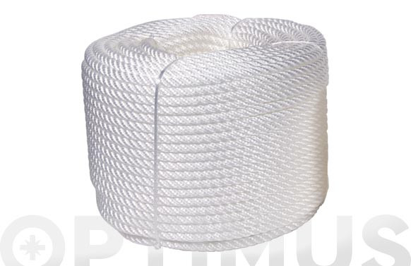 CUERDA CABLEADA PP 4C 5 MM100 MT BLANCO