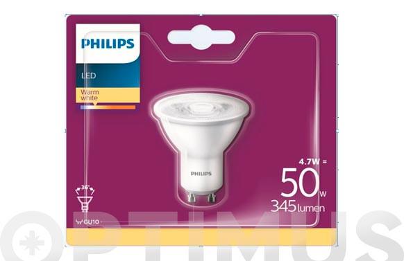 LAMPARA LED DICROICAGU10 4,7W LUZ CALIDA