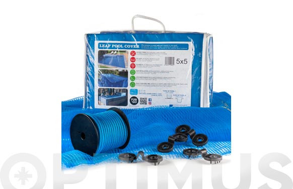 CUBIERTA MALLA PARA PISCINA4 X 4 LEAF POOL COVER