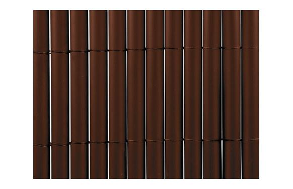 CAÑIZO SINTETICO PVC PLASTICANE OVAL 1 X 3 M CHOCOLATE