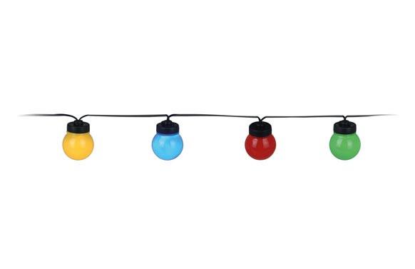 GIRNALDA LED 20 LAMPARAS Ø5CM MICROLEDLUZ COLORES 3M