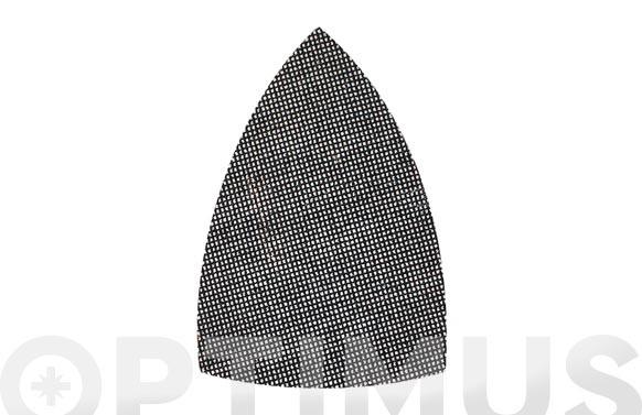 LIJA TRIANGULAR MALLA VELCRO 147X147X100 MM (10 U)GRANO 60
