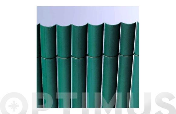 CAÑIZO SINTETICO PVC MEDIA CAÑA PLASTICANE2 X 3 VERDE