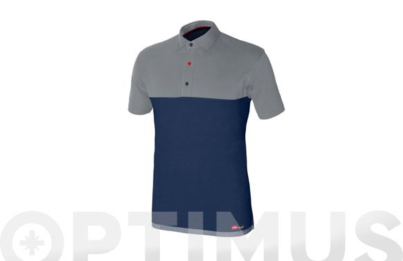 POLO STRETCH AZUL/GRISTALLA 3XL
