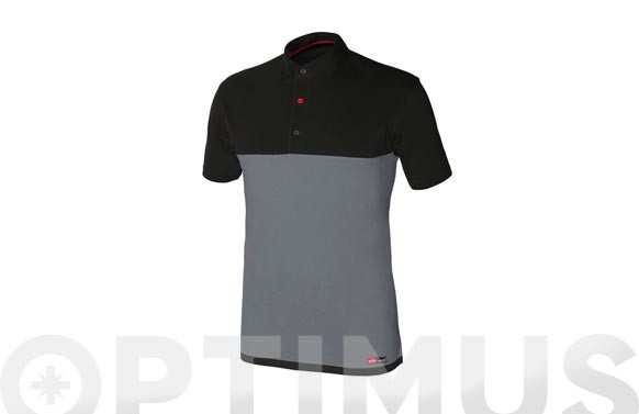 POLO STRETCH GRIS/NEGROTALLA M