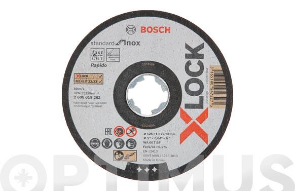 DISCO CORTE INOX XLOCK (LATA 10 UNIDADES)Ø 115X1 MM