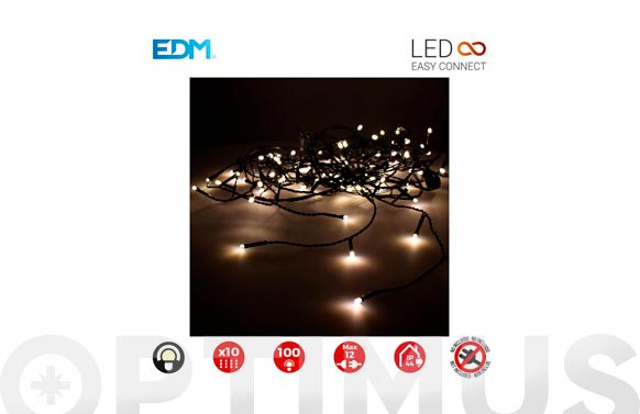 CORTINA LED  EASY-CONNECT C.VERDE2X1M-BLANCO CALIDO