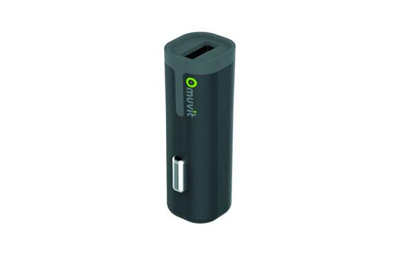 CARGADOR/TRANSFORMADOR AUTO USB 2,4ANEGRO