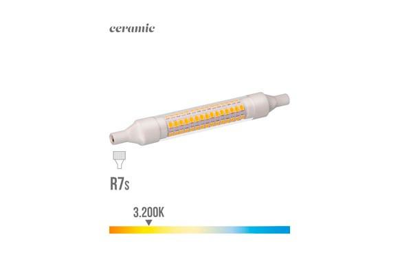 LAMPARA  LINEAL LED 360ºR7S 118 MM 9 W LUZ CALIDA