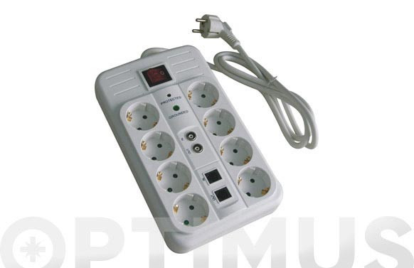 BASE MULTIPLE CON INTERRUPTOR Y PROTECCION8 TOMAS MULTIMEDIA