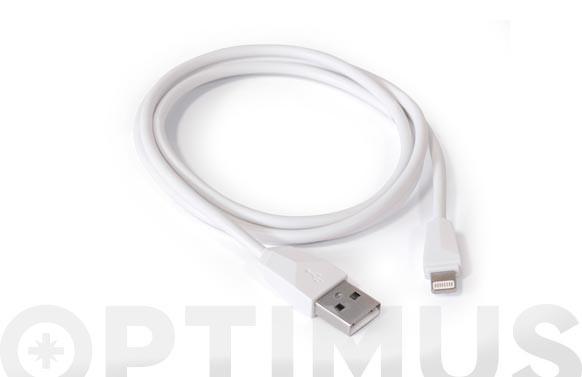 CABLE DE CONEXION USB-LIGHTING IPHBLANCO 1M