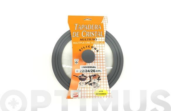 TAPA UNIVERSAL CRISTAL Y SILICONA22/24/26 CMS
