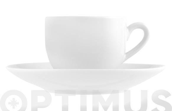 TAZA CAFE CON PLATO PORCELANA SWEDENBLANCO - 10 CL