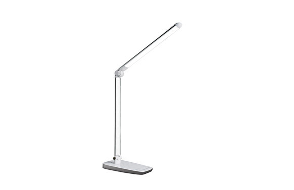 LAMPARA ESCRITORIO LED 10WBLANCA. REGULABLE. USB