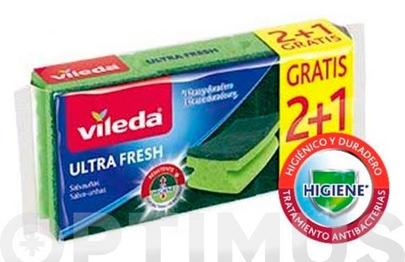 ESTROPAJO SALVAUÑAS 2+1 ULTRA FRESH