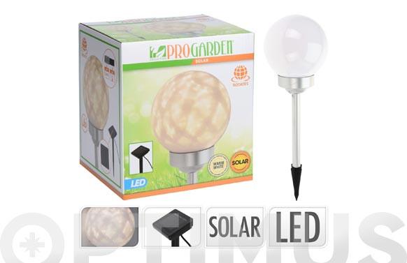 LAMPARA SOLAR LED GIRATORIA ESFERA DIAM 15 CM