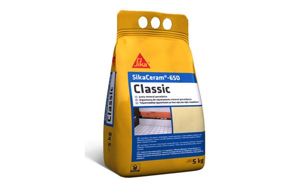 LECHADA PARA JUNTAS SIKACERAM 650 CLASSIC BLACK C2 NEGRO