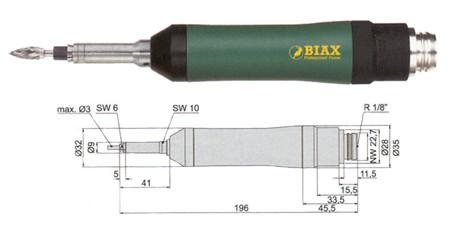 Amoladora profesional neumatica Biax srd 3-45/2 y srh 3-45/2