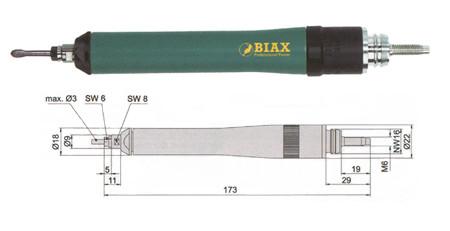 Amoladora neumatica profesional biax svd 3-85/2d