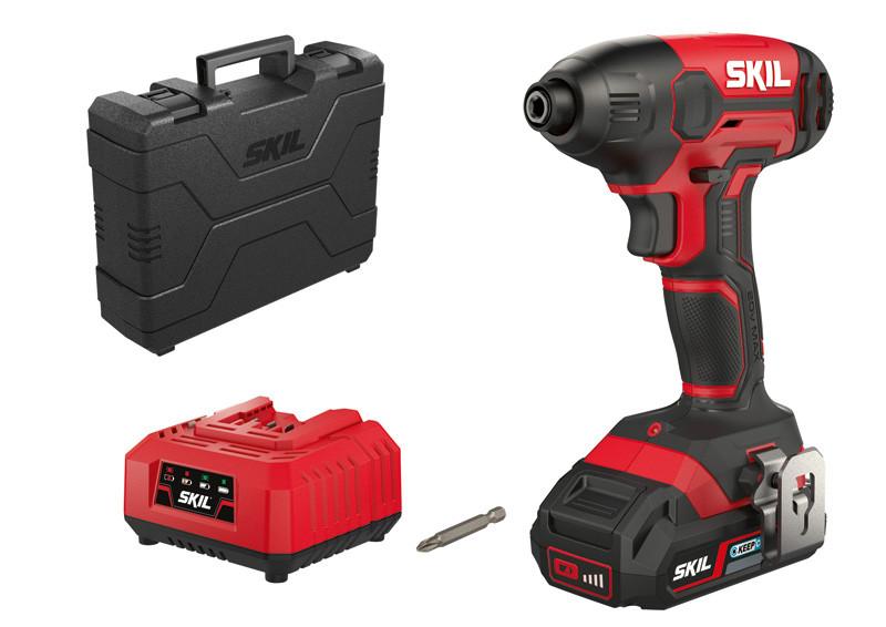 Atornillador de impacto Skil 3210 GA se suministra con batería, punta de atornillador y maletín de transporte