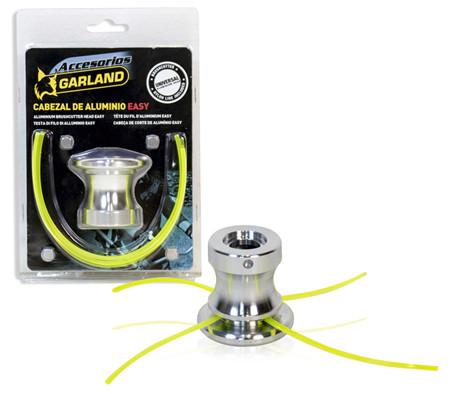 Cabezal de hilo para desbrozadoras universales, dos hilos intercambiables facilmente sin herramienta
