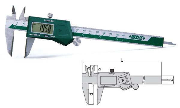 Calibre digital Insize 1110 puntas de metal duro