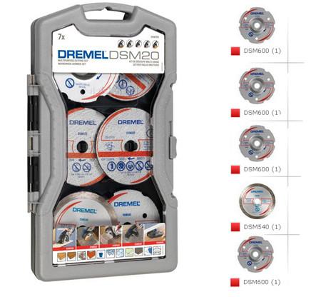 Juego de discos dremel para cortadora dsm20 con maletin para guardarlos  S705