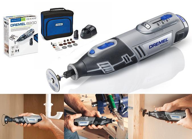 Dremel 8200JL multiherramienta a bateria con gran variedad de consumibles como lijas,discos