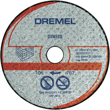 Disco mamposteria y piedra dremel dsm520 ref:2.615.S52.0JA