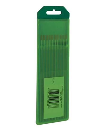 electrodos tungsteno verde