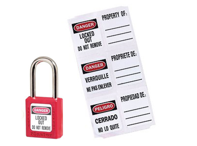 Etiquetas para candados Master Lock S140