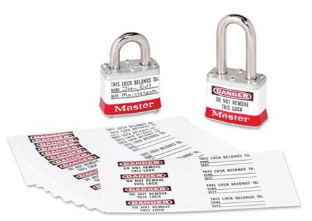 pegatinas transparentes para candados de seguridad de master lock
