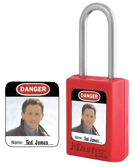 pegatinas para identificar candados con foto y nombre del propietario para candados master lock series s31, s32 y s33