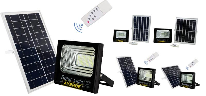 Foco solar Led Ayerbe con mando a distancia