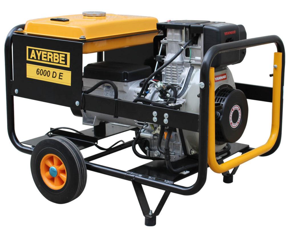 Generador Ayerbe 6000 E con arranque eléctrico