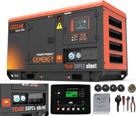 Generador diesel Genergy GDS14M de 14kva - 11.000W