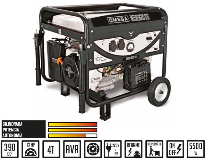 Generador Omega interlagos yh7500 de 6.000 watios