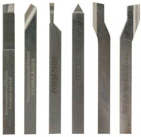 Set de 6 cuchillas para torno Proxxon