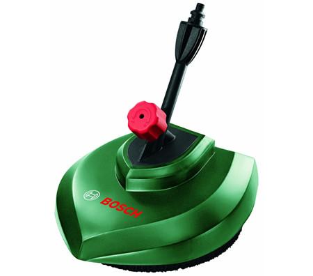 limpiador de suelo a presión incluye falda de cerdas para evitar salpicar agua