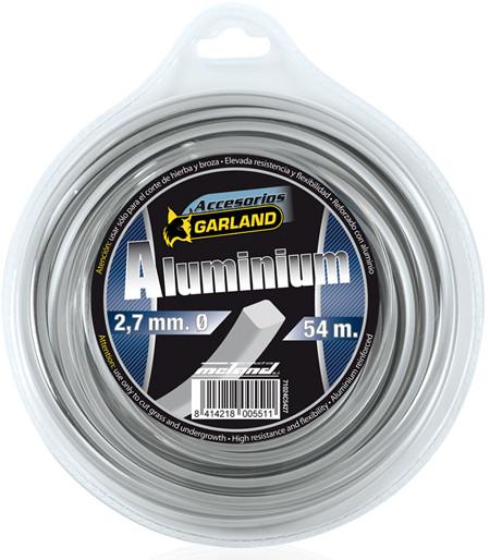 Hilo de nylon aluminio de seccion cuadrada