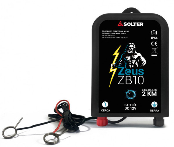 Pastor eléctrico para batería de coche Zeus ZB10 de Solter