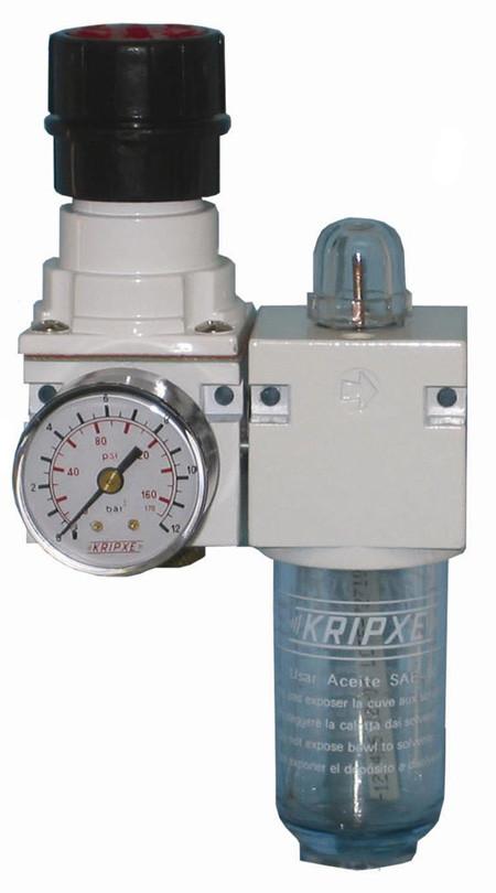 Regulador aire y lubricador RL-50 1/4  Kripxe