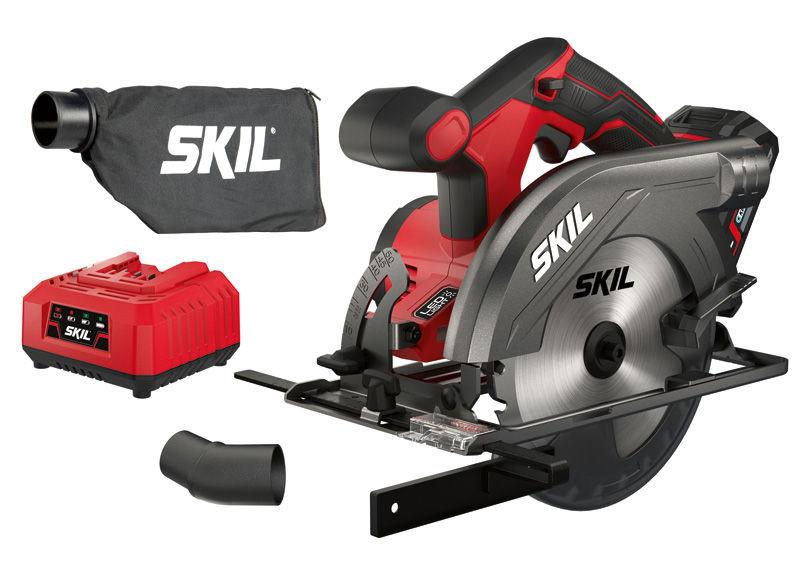 Potente sierra circular sKIL 3520AA a batería con disco de 165mm