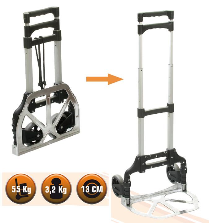 Carretillos plegables hasta 55 kg Tente-55