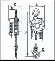 Plano de POLIPASTOS DE CADENA AY-2000-P 580410