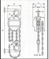 Plano de POLIPASTOS CADENA AYERBE AY-PROF-3000-P 580395