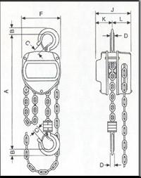 Plano de POLIPASTO CADENA AYERBE AY-PROF-1000-P 580380