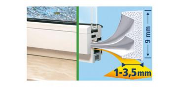 Burletes y tapajuntas - TESAMOLL CAUCHO PERFIL E 25M X 9MM BLANCO
