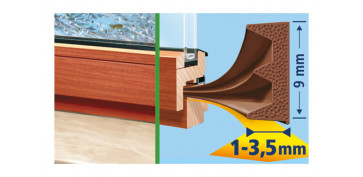 TESAMOLL CAUCHO PERFIL E 25M X 9MM MARRON